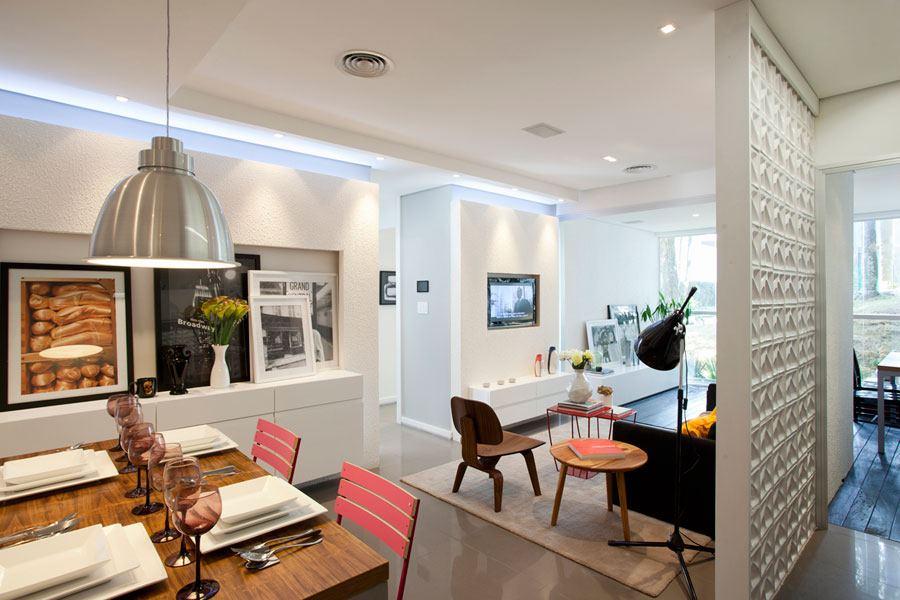 Sala De Estar Cinza E Madeira ~ Essa sala me agrada, um piso puxando pro cinza e paredes brancas!
