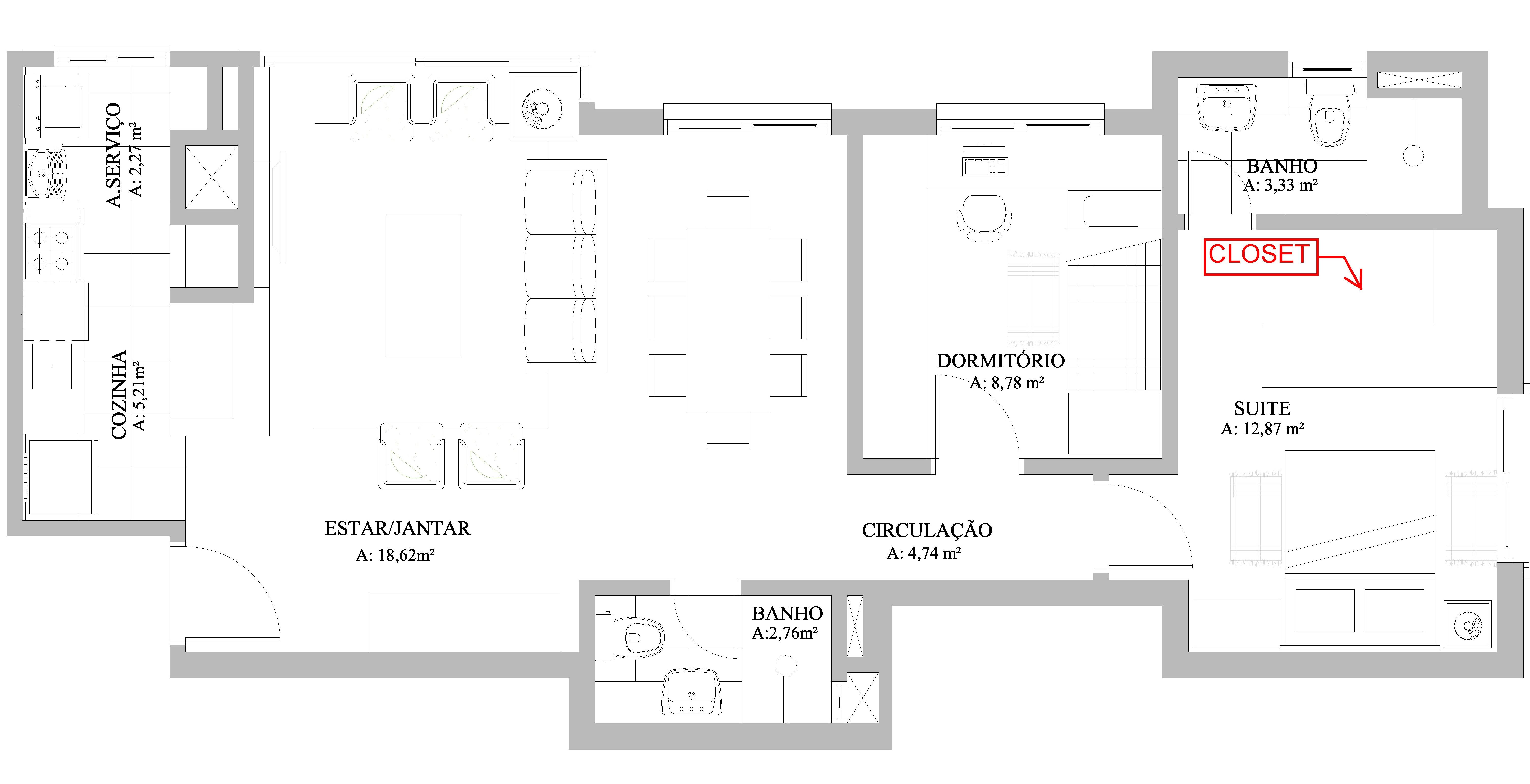 Closet A Casa Das Gurias P Gina 2 ~ Tamanho Ideal Quarto Casal Closet