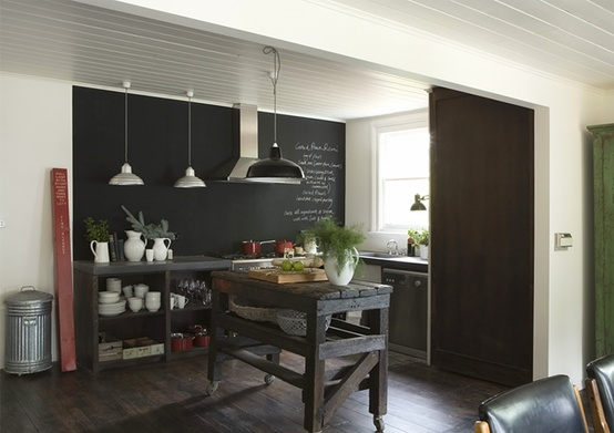 Quadro negro lousa m gica a casa das gurias for Departamentos rusticos modernos