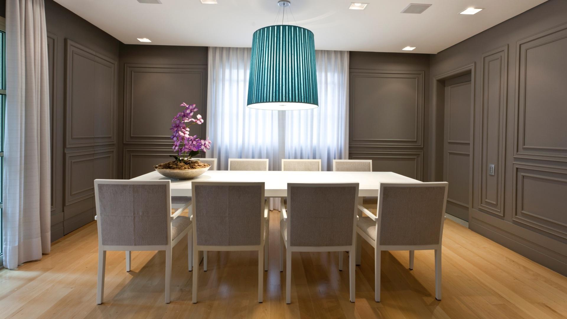 Pruzak Com Sala De Jantar Com Laca Branca Id Ias Interessantes  -> Sala Branca Com Parede Colorida