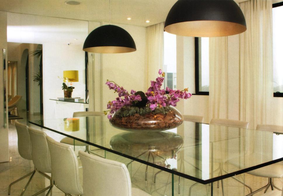 Mesa Para Sala De Jantar Com Vidro ~ simplesmente amei essa mesa de jantar além de o tampo
