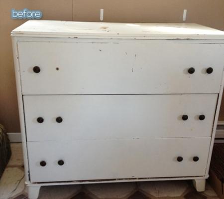 dresser vanity before
